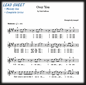 Leadsheet: guitar, lyrics and chords