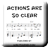 Button for purchasing the sheet music of Actions Are So Clear for $5.45