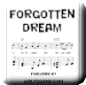 Button for purchasing the sheet music of Forgotten Dream for $5.45