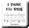 Button for purchasing the sheet music of I Think I'll Ride for $5.45