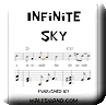 Button for purchasing the sheet music of Infinite Sky for $5.45