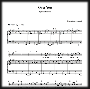 Thumbnail of Over You sheet music