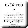 Button for purchasing the sheet music of Over You for $0.00