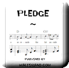 Button for purchasing the sheet music of Pledge for $5.45