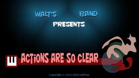 The title image of the video for Nick Sullivan's song 'Actions Are So Clear'