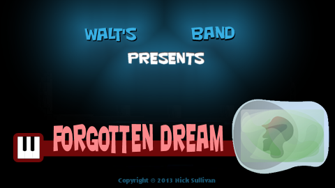 The title image of the video for Nick Sullivan's song 'Forgotten Dream'