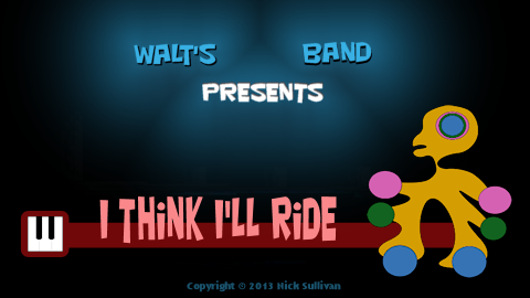 The title image of the video for Nick Sullivan's song 'I Think I'll Ride'