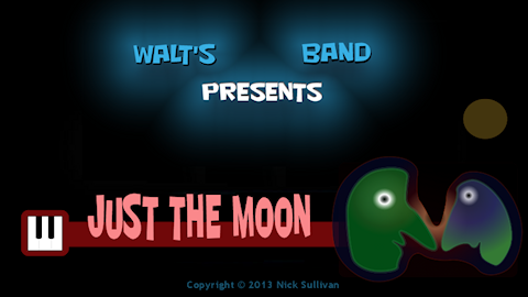 The title image of the video for Nick Sullivan's song 'Just The Moon'