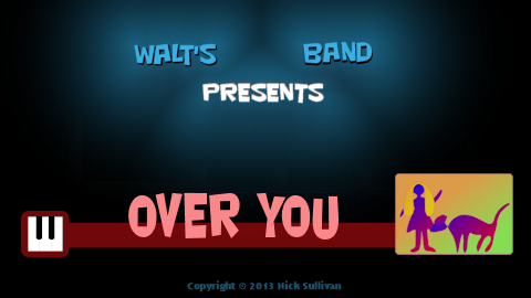 The title image of the video for Nick Sullivan's song 'Over You'