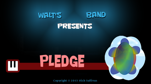 The title image of the video for Nick Sullivan's song 'Pledge'
