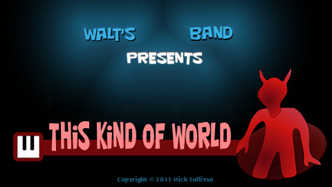 The title image of the video for Nick Sullivan's song 'This Kind of World'