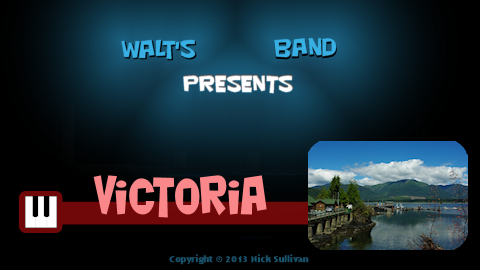 The title image of the video for Nick Sullivan's song 'Victoria'