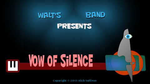 The title image of the video for Nick Sullivan's song 'Vow Of Silence'