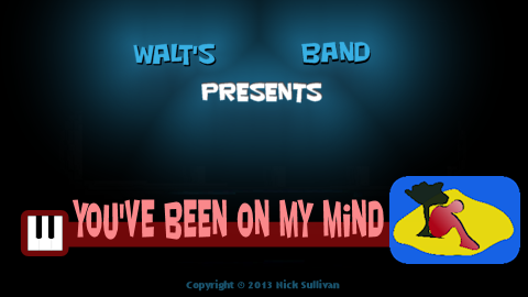 The title image of the video for Nick Sullivan's song 'You've Been On My Mind'
