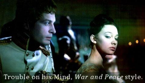 "Trouble on his Mind, ""War and Peace"" style"