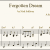 Forgotten Dream sheet music (detail)