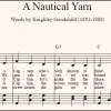 Sheet music of Nick Sullivan's arrangement of the Australian folk song A Nautical Yarn