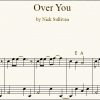 Over You sheet music (detail)