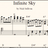 Infinite Sky sheet music (detail)