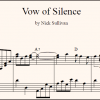 Vow Of Silence sheet music (detail)